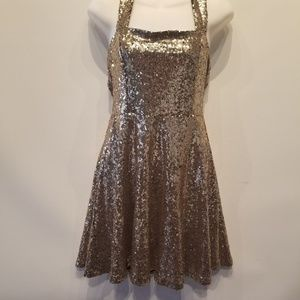 Charlotte Russe Sequin Bodycon Cocktail Dress
